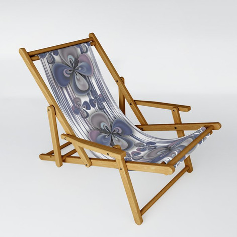 Clover in blue - Sling Chair
