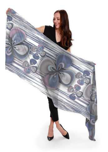 Clover Blue - Cashmere Silk Scarf