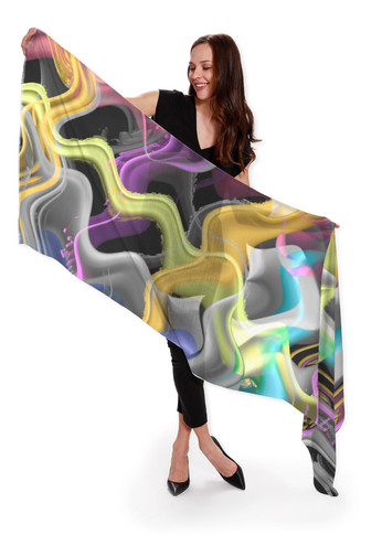 Wavy - Cashmere and Silk Scarf