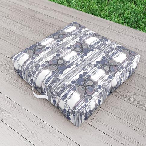 Clover Blue - Outdoor floor cushions