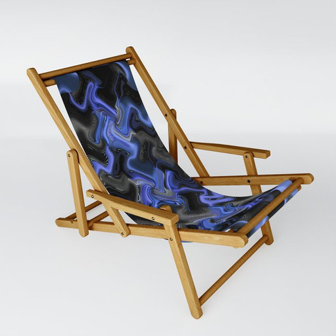 Shadows in blue - Sling Chair
