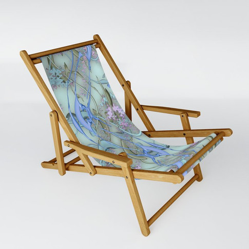 Color Spill in turquoise - Sling Chair