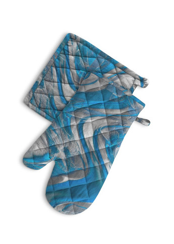 Dreams in blue - Oven Mitt and potholder
