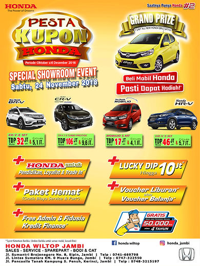 Showroom Event Honda Wiltop Jambi