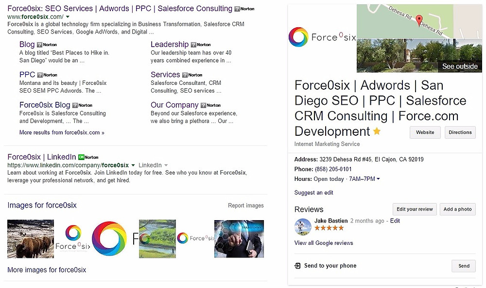 Rank #1 with SEO Services from Force0six