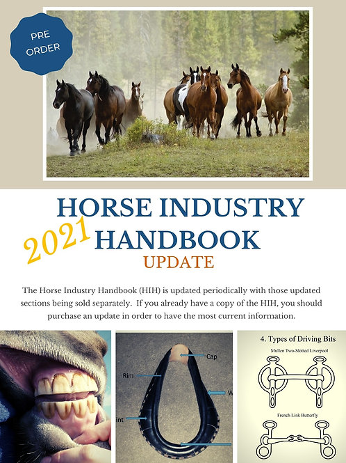 2021 Update pack for Horse Industry Handbook