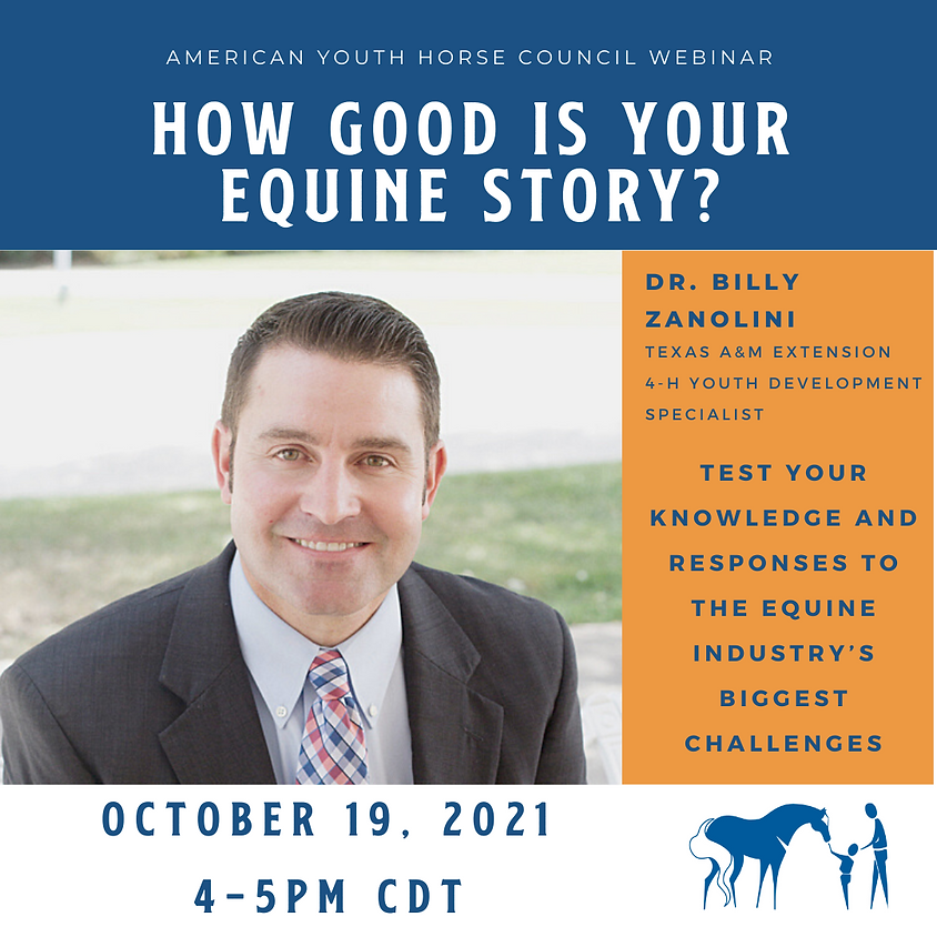 WEBINAR: How Good is Your Equine Story