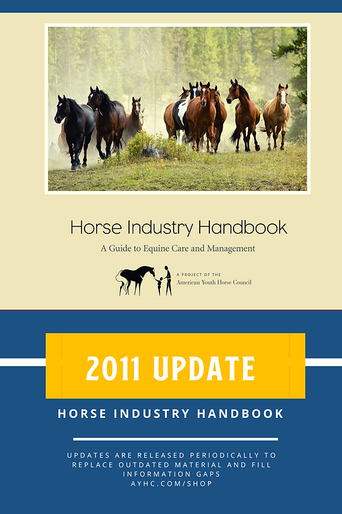 2011 update pack for Horse Industry Handbook
