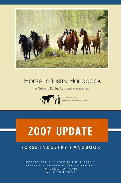 2007 Update pack for Horse Industry Handbook