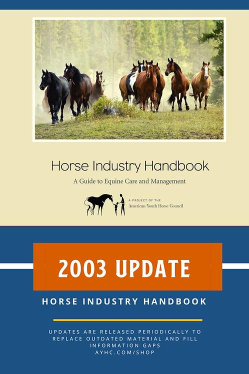 2003 Update for Horse Industry Handbook