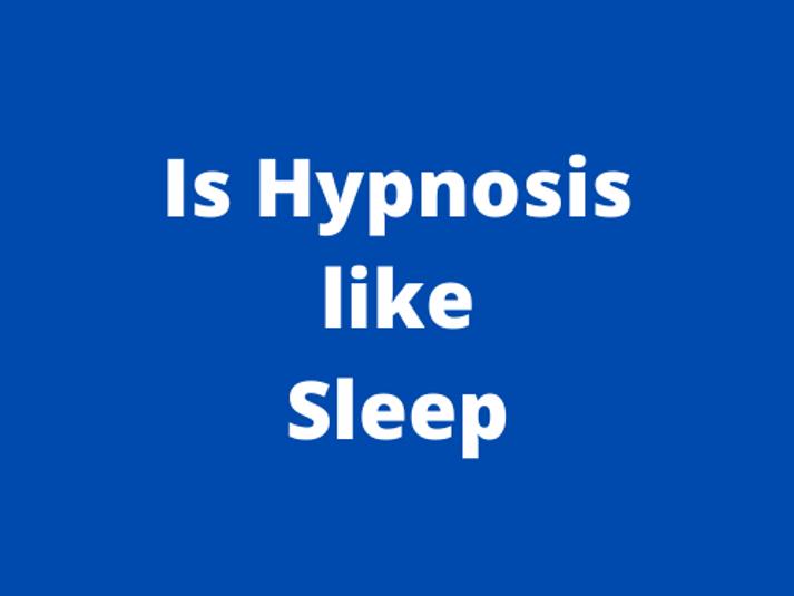 Is hypnosis like sleep?