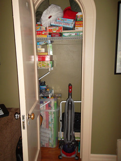 Games & Wrapping Closet BEFORE