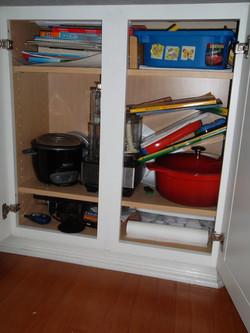 Kids Crafting Cupboard BEFORE
