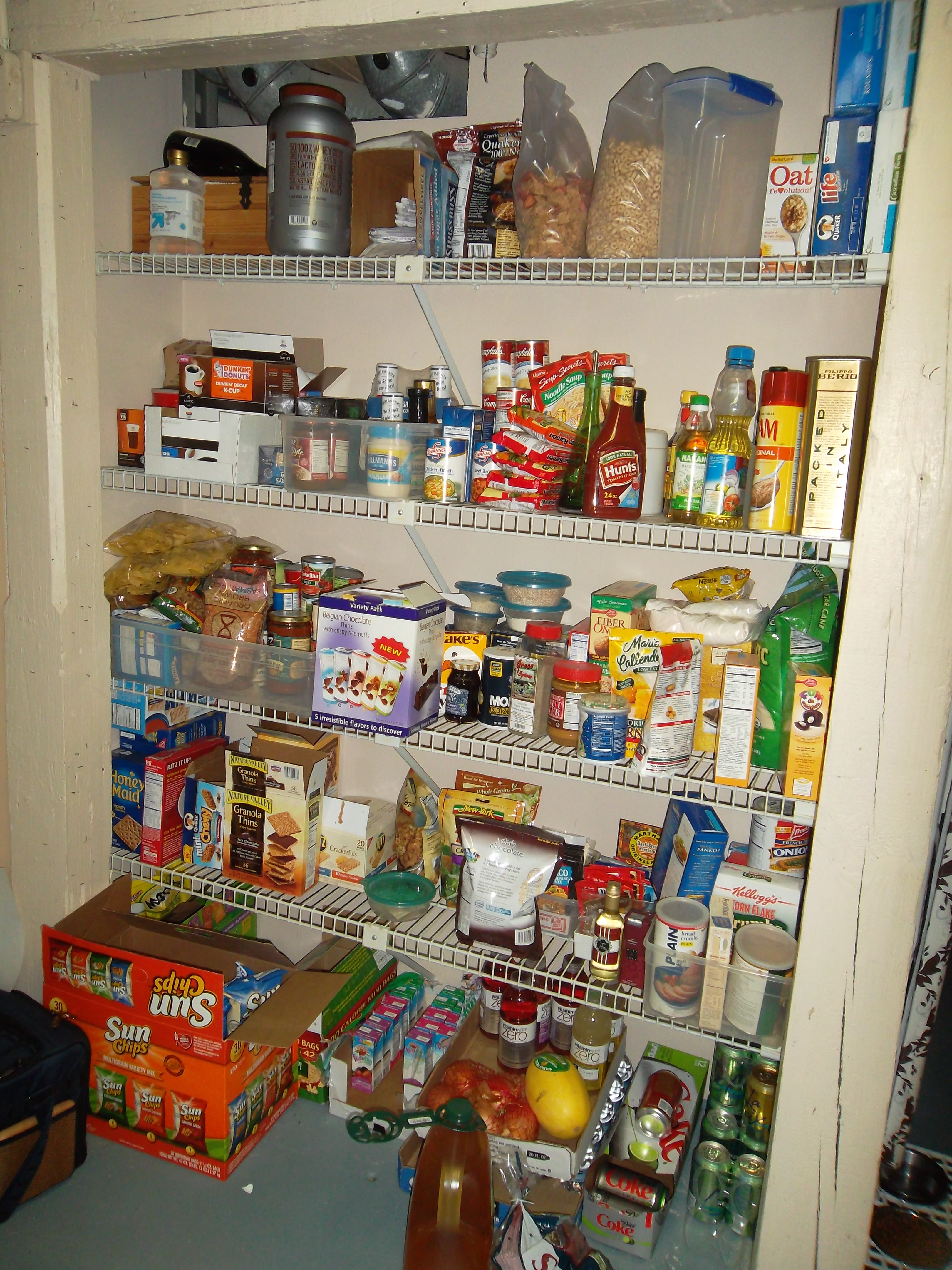 Overflow Pantry BEFORE
