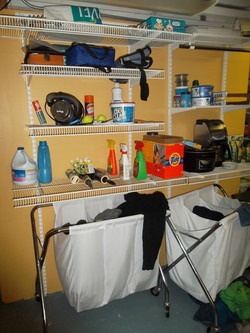 Laundry Room Shelving BEFORE