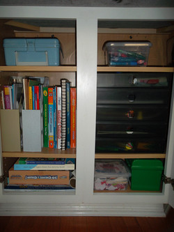 Kids Crafting Cupboard AFTER
