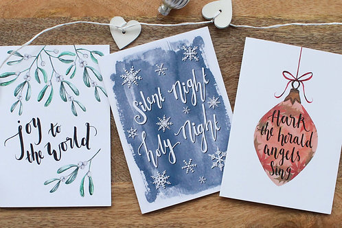 Selection of Christmas Cards  - Pack of 9