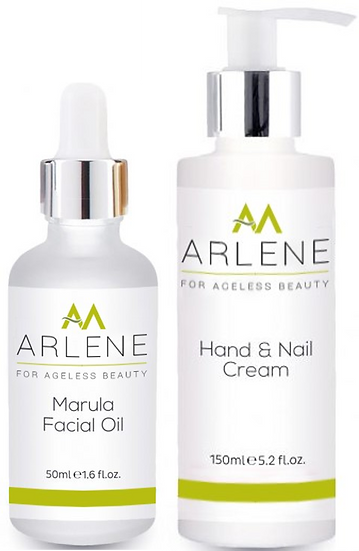 ARLENE Marula Facial Oil and Hand & Nail Cream PROMO Pack