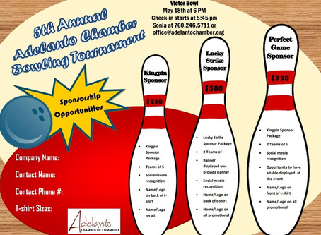 5th Annual Adelanto Chamber Bowling Tournament