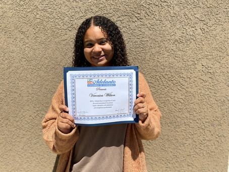 2020 Scholarship Recipient Veronica Wilson