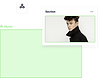 The tiny Masters icon is shown next to a thumbnail image of a website section and a green rectangle.