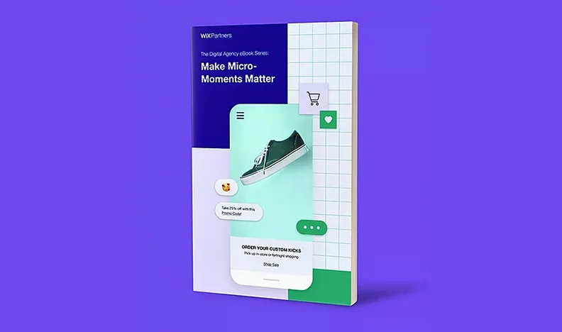 Cover of Make Micro-moments matter eBook on purple background