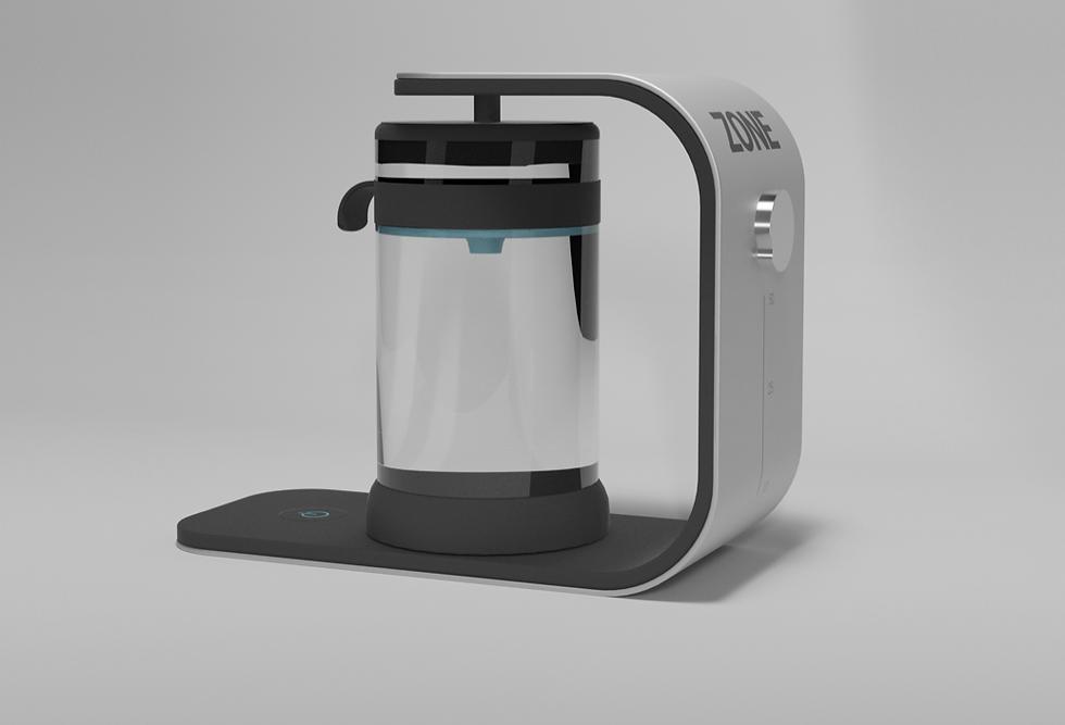 Modern water filtering system.