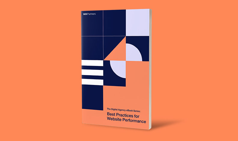 Best Practices for Website Performance eBook cover on orange background