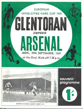 Glentoran 1 v 0 Arsenal-29.09.69