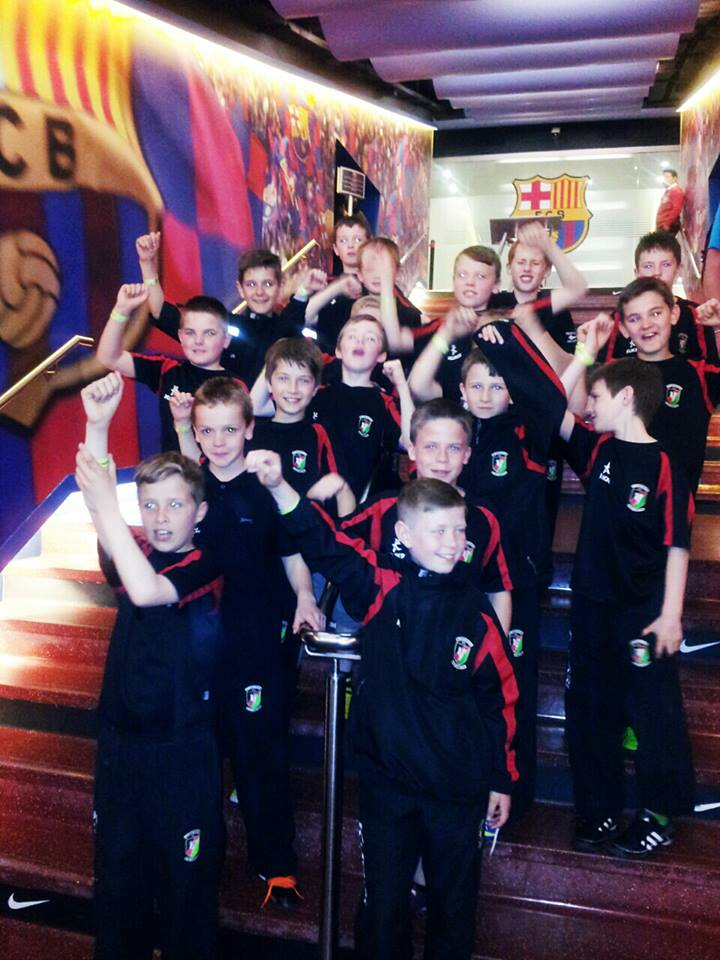 Under 12s visit the Nou Camp