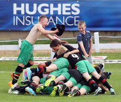 Under 13s celebrating in style