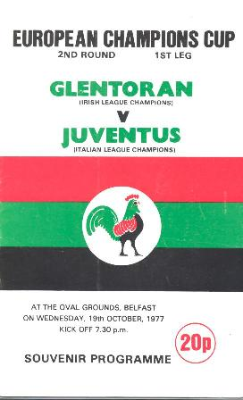 Glentoran 0 v 1 Juventus-19.10.77
