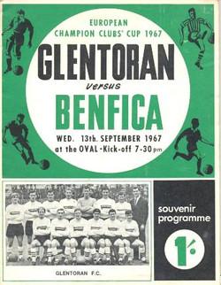Glentoran 1 v 1 Benfica (1967)