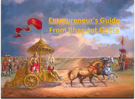 Entrepreneur's Guide, from Bhagwat Geeta !!