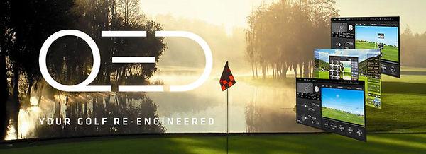 QED golf simulator uneekor, indoor golf, golfstudio