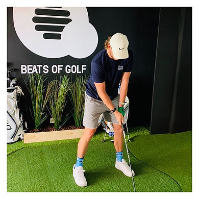 Thomas Pieters at Beats of Golf, golfstudio, indoor golf