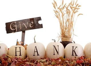 Give Thanks! November Specials