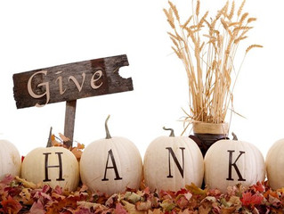 Give Thanks! November Specials