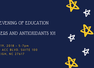 Fillers and Antioxidants 101 - An Evening of Education