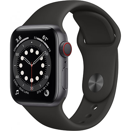 Apple Watch Series 6 GPS + Cellular, boîtier alu, 44 mm, bracelet sport