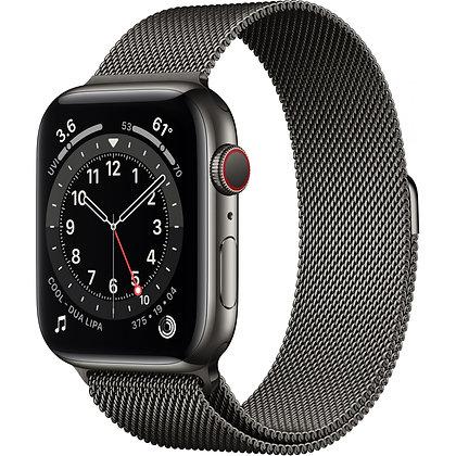 Apple Watch Series 6 GPS + Cellular, boîtier en acier inoxydable graphite de 44