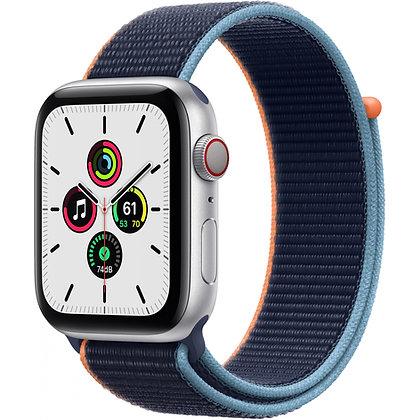 Apple Watch SE GPS + Cellular, boîtier aluminium argenté 44 mm, bracelet sport