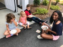 Kids at ice cream social