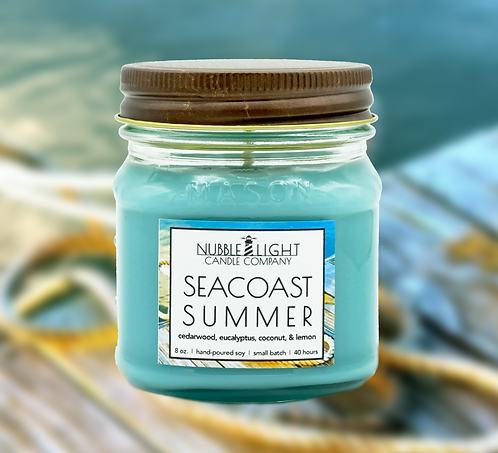 SEACOAST SUMMER 8oz. Scented Soy Candle