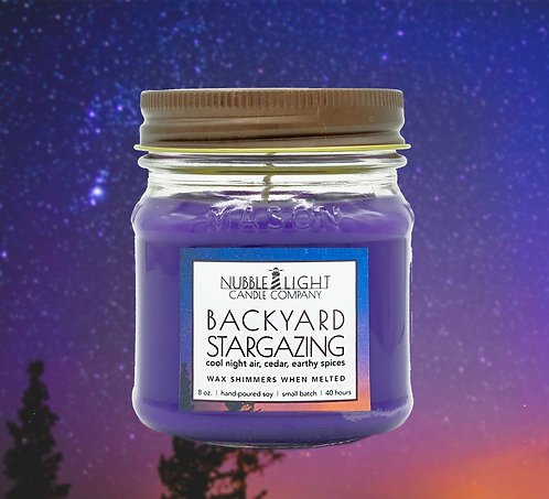 BACKYARD STARGAZING 8oz. Scented Soy Candle
