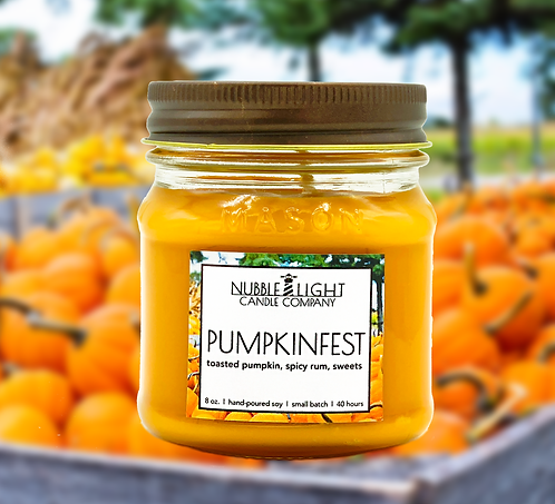 PUMPKINFEST 8oz. Scented Soy Candle