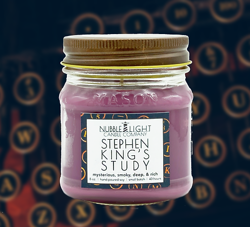 STEPHEN KING'S STUDY 8oz. Scented Soy Candle