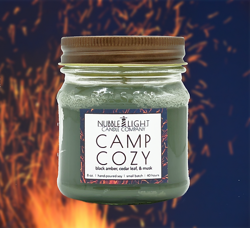 CAMP COZY 8oz. Scented Soy Candle