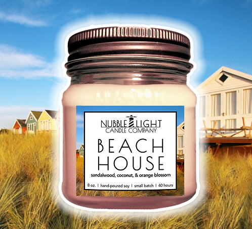 BEACH HOUSE 8oz. Scented Soy Candle