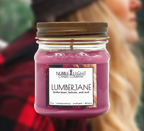LUMBERJANE  8oz. Scented Soy Candle